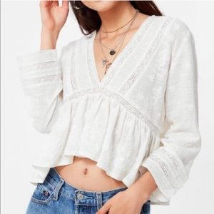 Urban Outfitters Isabella Embroidered Lace Top